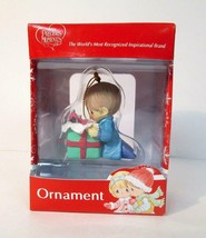 Precious Moments Boy Holding Airplane Gift Present Christmas Ornament/ - $0.96