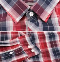 Men's Cotton Casual Long Sleeve Classic Plaid Button Up Dress Shirt - Medium image 3
