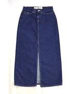 GAP JEANS Riveted Work Style Blue Denim Western Split Pencil Maxi Skirt ... - $12.86