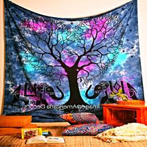 Bohemian Wall Art Tapestry Tree Elephant Indian Bedspread Blanket Ethnic... - £13.98 GBP