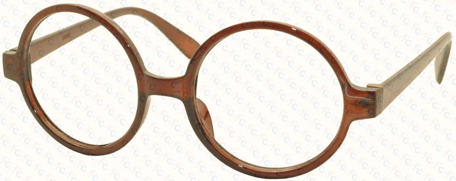 Classic Vintage Round Wizard Costume Nerdy Glasses Frames NO LENS Spectacle Wear image 3