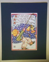 "Mary Engelbreit Print Matted 8 x 10 ""Ring Out Wild Bells"" - $16.40"