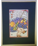 """Mary Engelbreit Print Matted 8 x 10 """"Ring Out Wild Bells"""" - $16.40"""