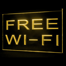 130038B Free Wi-Fi Internet Access Cafe Lounge Public Display LED Light Sign - $18.00