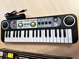 Mini Electronic Piano with Microphone Portable 37 Keys Digital M - $19.99
