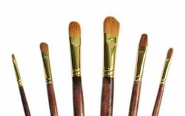 Gouache / Watercolor Paintbrushes White Long Handled Brush Sets, 6-Piece(DS588)