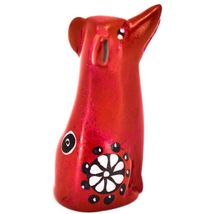 Vaneal Group Hand Carved Kisii Soapstone Red Puppy Dog Miniature Figurine image 4