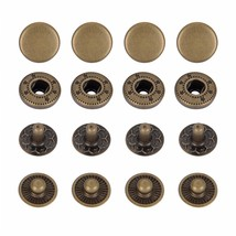 12.5mm Bronze S Spring Press Studs Snap Fastener Poppers Button Sewing C... - $7.44+