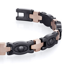 Men's Tungsten Ceramic Copper Tone Eyeball Link Bracelet image 3