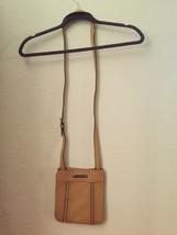 Michael Kors Crossbody Tan Leather with gold zipper detail - $60.00