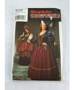 Simplicity 8249 Plus Sizes 18W-24W Renaissance Dress Costume Pattern Uncut - $29.99