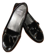 MOOTSIES TOOTSIES Sz 9.5 Womens Black Lacquer Slip On Loafers Work Weari... - $19.99