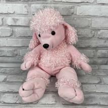 "Animaland Pink Poodle Plush Stuffed Animal Dog Puppy 16"" Nanco 2005 - $12.59"