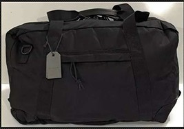 ALL SAINTS Men's NAKANO HOLDALL BLACK NYLON LARGE DUFFLE TRAVEL BAG W/STRAP
