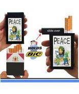 Cigarette Case Peace Man USA Lighter Box Holder Kings 100's RYO - $7.71