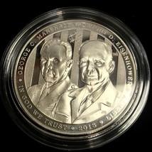2013 George C. Marshall / Dwight D. Eisenhower Commemorative Silver Round - $48.99