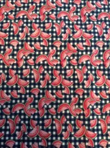"""Watermelon Checkered Fabric Traditions 45"""" X 96"""" 2+ Yards Slice Fruit Co... - $23.78"""