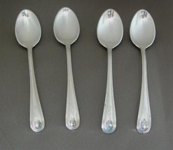 "Lot of 4 BIRKS Regency Plate DEMITASSE SPOONS 4 1/4"" Silverplate Monogra... - $12.60"