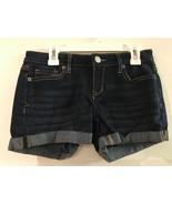 Aeropostale Women's Junior Shorts Size 00 Blue Dark Wash Stretch Midi Cu... - $12.95