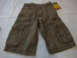 Lee boys shorts NWT cargo utility adjustable waist 7 R regular youth NEW brown - $20.72