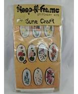 Hoop n Frame Stitchery Kits by June Craft Red Geranium Sealed - $10.03