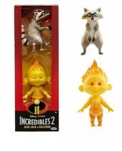 Disney Pixar Incredibles 2 Fire Jack-Jack and Raccoon Action Figures set - $12.56