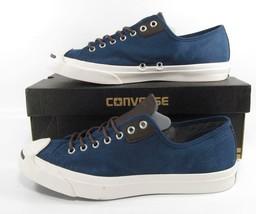 Converse Jack Purcell Jp Ltt Ox Low Top Sneaker Navy Blue 144390C Men's 10 - $60.00