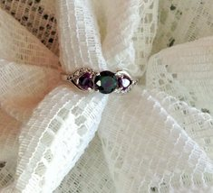 Oval Rainbow Mystic Topaz and Amethyst SS Sz 6,7,8 OR 10 image 3