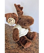 Melvin Moose Papel Gifts Plush Stuffed with White Cable Knit Sweater MWT - $19.79