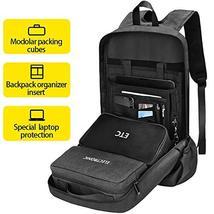 Work Laptop Backpack, ARUNGOR Black Travel Backpack for Men & Women with Laptop  image 2