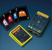 Pac Man Arcade Game Playing Cards Deck with Embossed Case NEW SEALED image 2