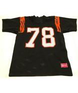 Cincinnati Bengals Anthony Munoz #78 NFL AFC Vintage 80s Black Orange Je... - $74.25