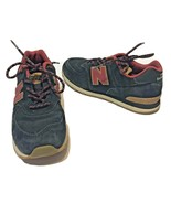 New Balance 574 Kids Youth Tennis Shoes Black and Pink Suede Lace Up Size 3 - $18.54