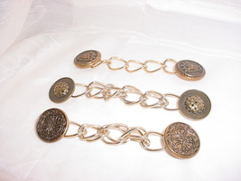 Renaissance Garb Cape Chain Set for Cloak Lot of 3 J143 Heraldry - $9.96