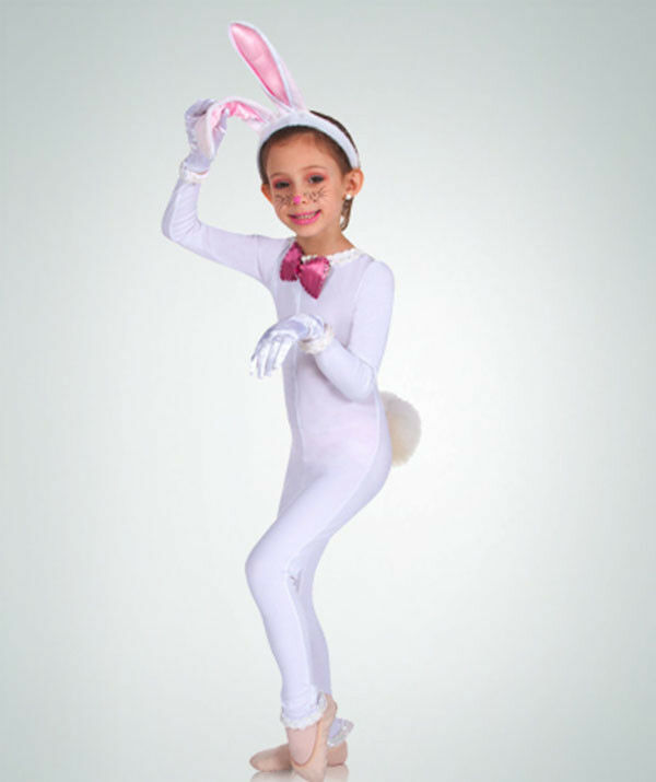 Primary image for Body Wrappers MT117 Child Small (4-6) White Full Body Long Sleeve Unitard