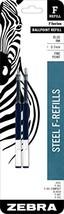 Zebra F-Series Ballpoint Stainless Steel Pen Refill, Fine Point, 0.7mm, ... - $5.85