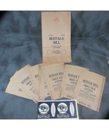 8 Buffalo Bill Cigar Cuttings Bags plus Buffalo Cigarrillos Label - $20.56