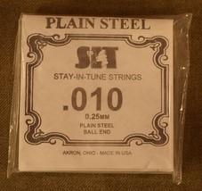"SIT Strings - Package of 6 Single Strings .010 ""E"" - $5.08"