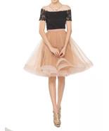 Womens Midi Rust Skirt Layered Rustic Tulle Skirt Outfit Ruffle Midi Tut... - $58.88