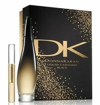 Donna Karan Liquid Cashmere Black 3.4 Oz Eau De Parfum Spray 2 Pcs Gift Set image 4