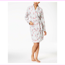 Charter Club Fleece Short Robe Oh Deer Grey (Reindeer) XL - $15.39