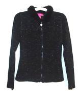 Thalia Sodi Girls Black Metallic Knit Sweater w... - $11.29