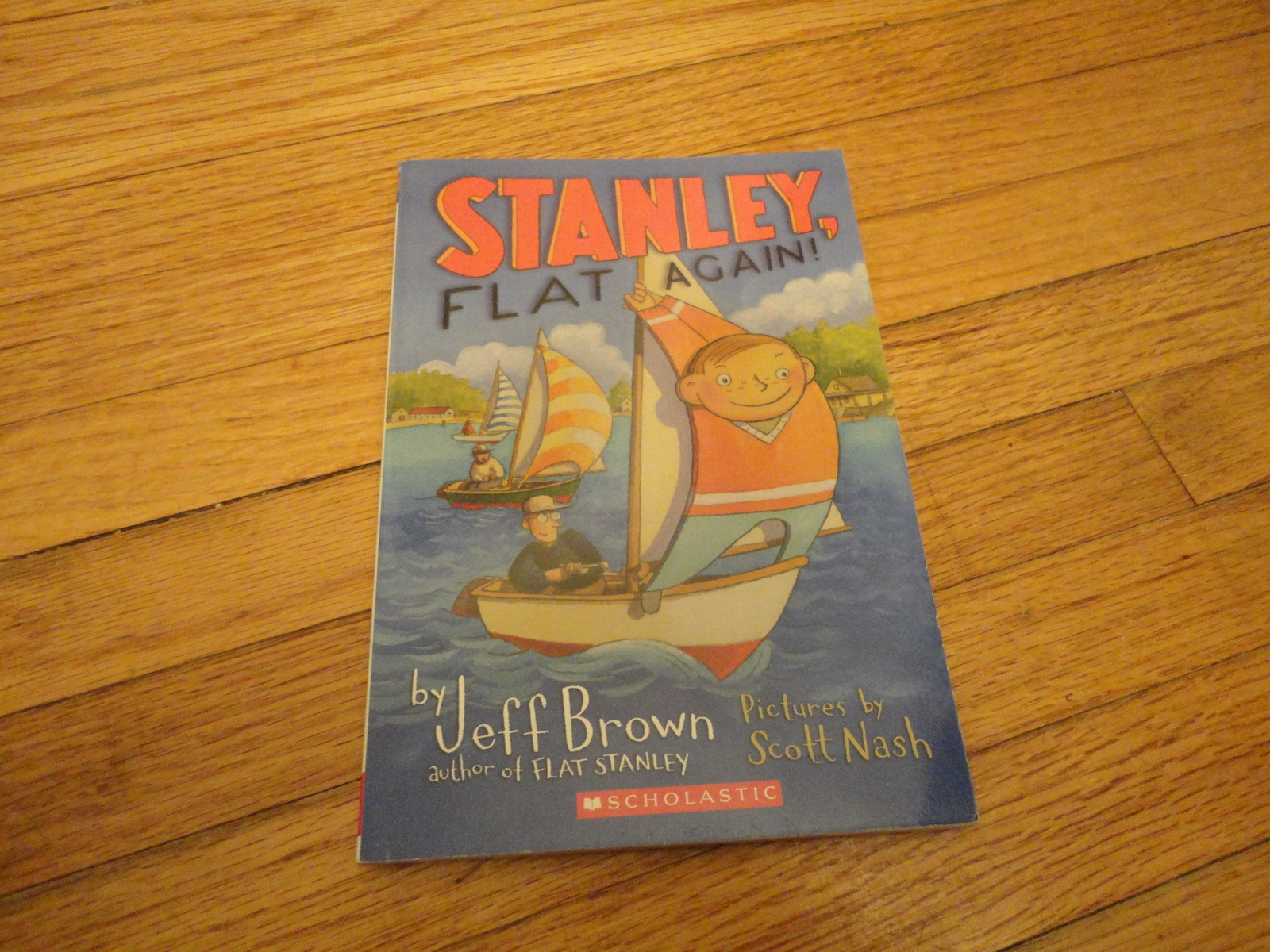 BOOK Jeff Brown 'Stanley, Flat Again' PB Scholastic Flat Stanley kids childrens