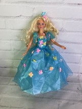 VTG 1995 Mattel Songbird Barbie Doll Blonde Hair Blue Eyes Butterfly Dre... - $16.82