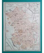 TUNISIA Tunis City Town Plan - 1911 MAP - $30.60