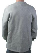 Ten 10.Deep Heather Grey Veterans Card Fleece Cardigan Sweater Jacket 2XL 3XL NW image 3