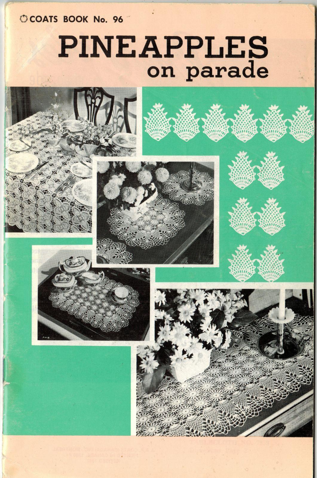 Pineapple Doilies Tablecloth Runner Luncheon Buffet Armchair Crochet Patterns  image 12
