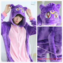 Harajuku sailor Moon Luna Cat Romper adult Anime Animal Kigurumi Pajama+shoes - $18.99