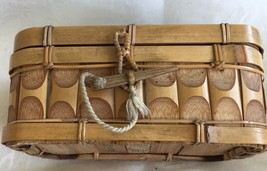 Antique  miniature Bamboo Trunk-Dated January 1, 1892- - $74.25