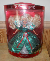 """1995 Happy Holidays Barbie Special Edition NRFB (Z182) 12"""" Tall - $29.01"""